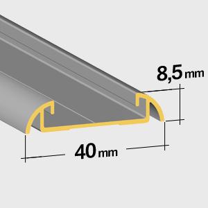 Flache bodenschiene 8,5mm
