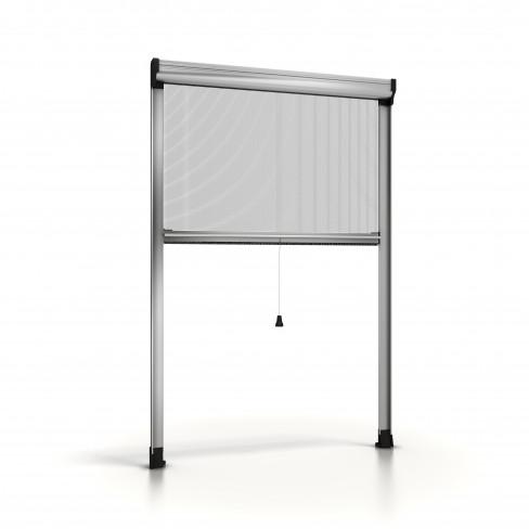 rollo fliegengitter f r fenster silver 01 noflystore. Black Bedroom Furniture Sets. Home Design Ideas